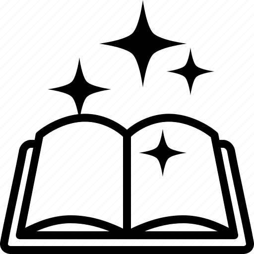 Book, magic, manual, open, spell, spells, tome icon