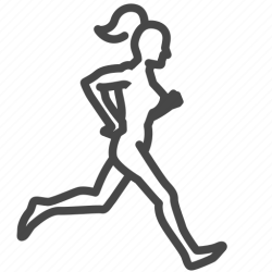 Exercise female jogging run training woman workout icon Download on Iconfinder
