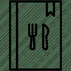 restaurant menu icon food yummy cutlery icons editor open data