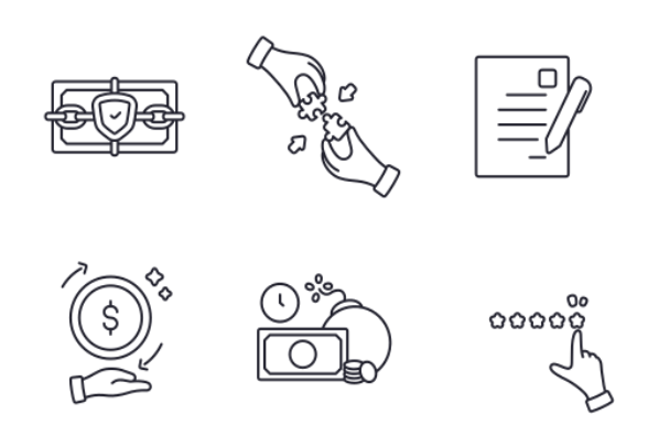 Business and Finance outline icons by Victoruler