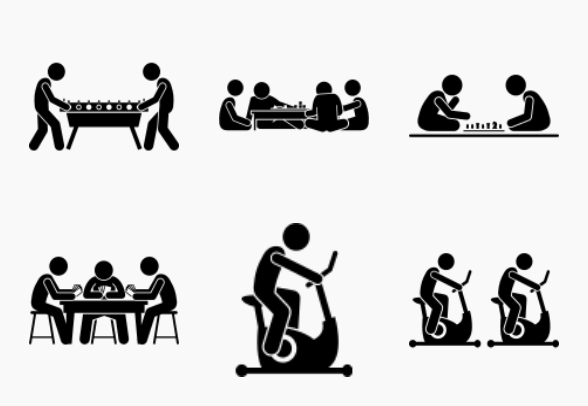 Indoor Club Games and Recreational Activities icons by Gan
