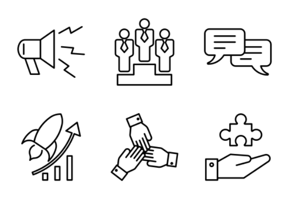 Outline Business icons by Hung Pham Duy Phuong