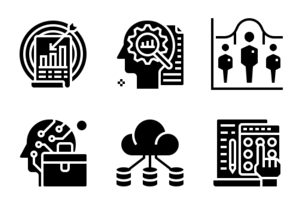 Statistical analysis icons by Wichai.Wi