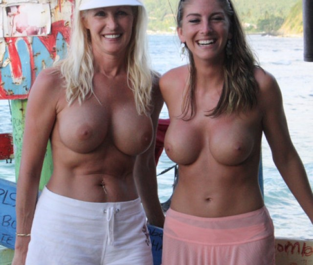 Mother And Daughter Topless
