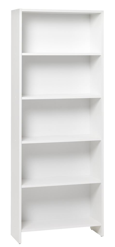 Boekenkast GISLINGE 5 schappen wit  JYSK