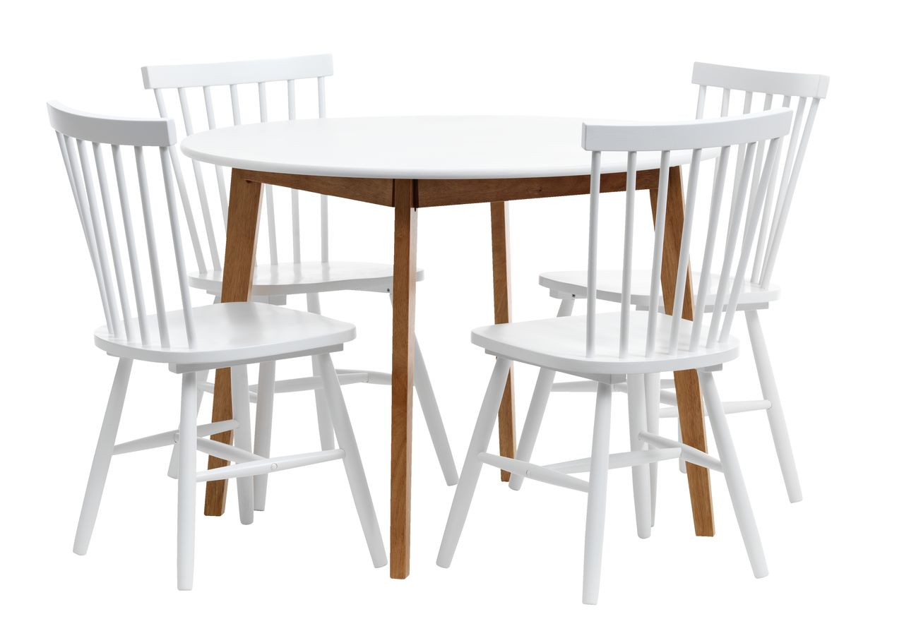 jysk dining room chair covers leather chairs jegind d105 43 4 langdal white