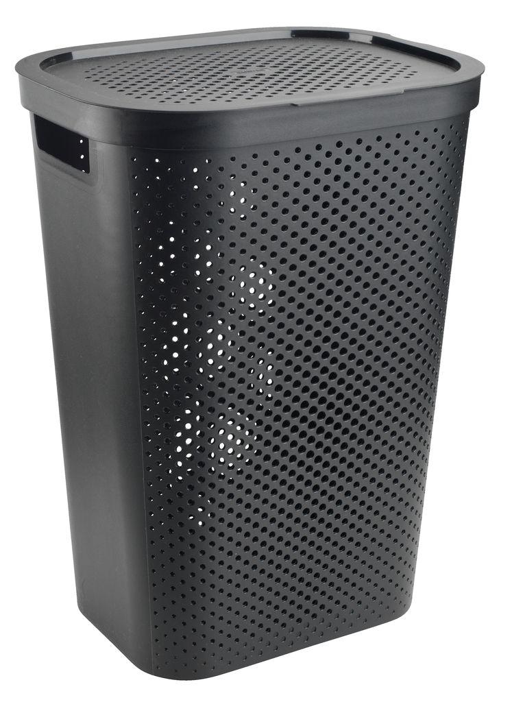 Wasmand INFINITY kunststof zwart  JYSK