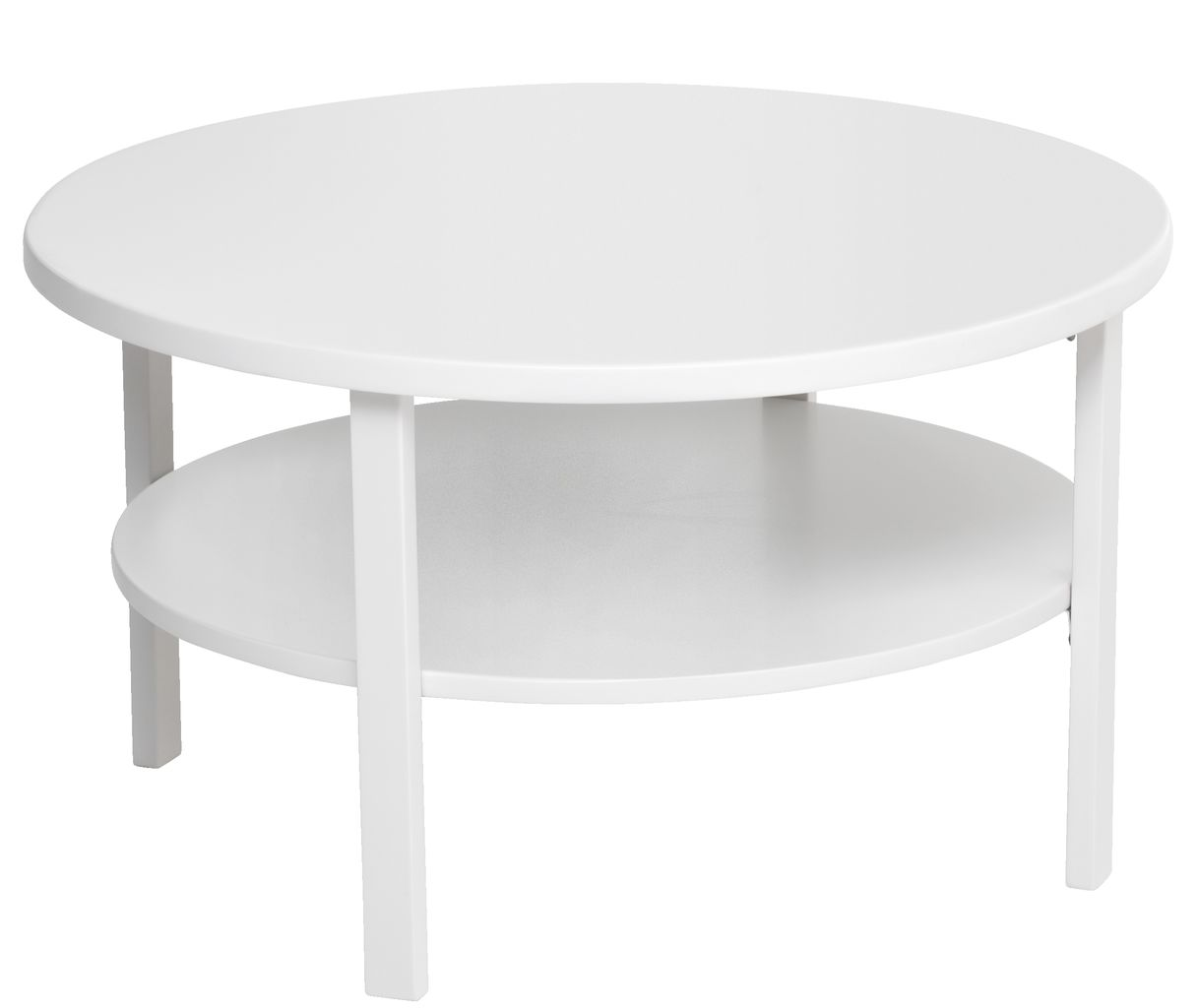 Coffee table SKIBBY D80 wshelf white  JYSK