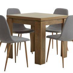 Jysk Dining Room Chair Covers Macrame Patterns Vedde 80 160 W Oak 434uk Jonstrup Grey