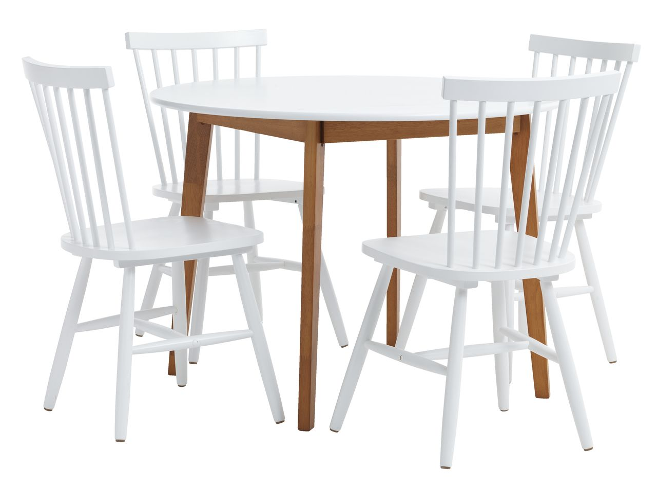 jysk dining room chair covers ottoman 2 jegind d105 white 43 4 langdal