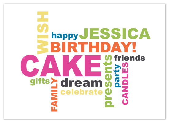 Happy Birthday Cake Jessica