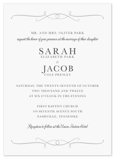 Contemporary Wedding Invitation Wording