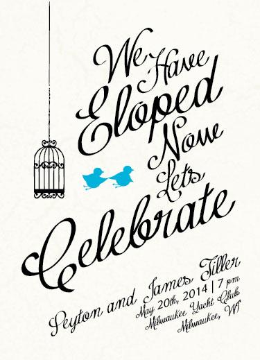 eloped invitations