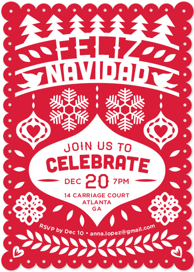 Party Invitations Feliz Navidad Fiesta Banner At