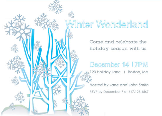 Party Invitations Winter Wonderland Party Invitations At