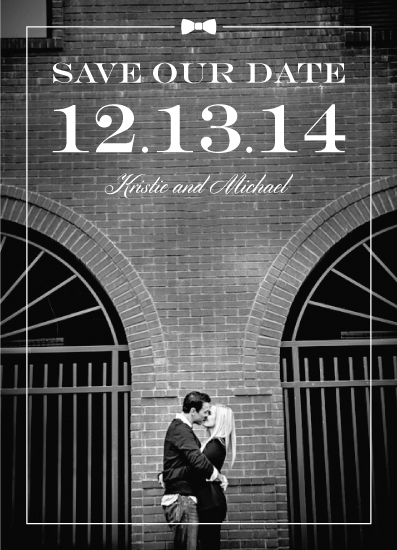 black and white save the date cards