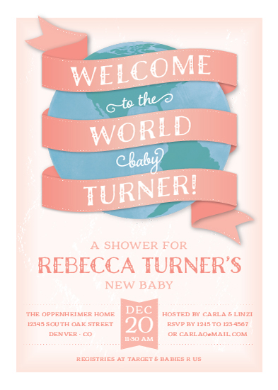 Fonts Baby Shower Invitations