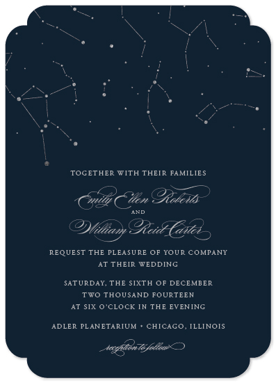Starry Fall Night Wallpaper Wedding Invitations Written In The Stars At Minted Com