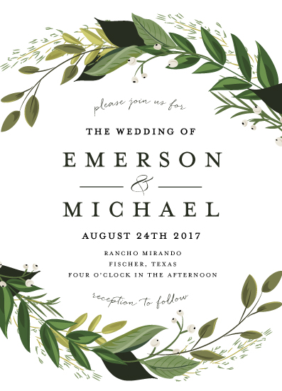 Wedding Invitations Vines Of Green At