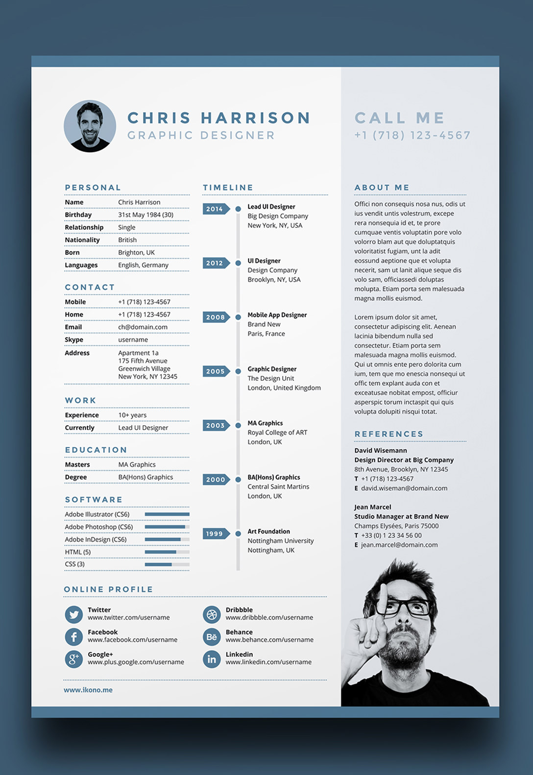 Cv Resume Online 7 Free Editable Minimalist Resume Cv In Adobe Illustrator