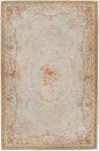 Antique Aubusson Carpet 45465 by Nazmiyal