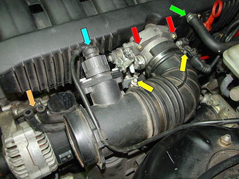 bmw m50 wiring diagram esp ltd guitar e36 3-series intake manifold removal (1992 - 1999) | pelican parts diy maintenance article