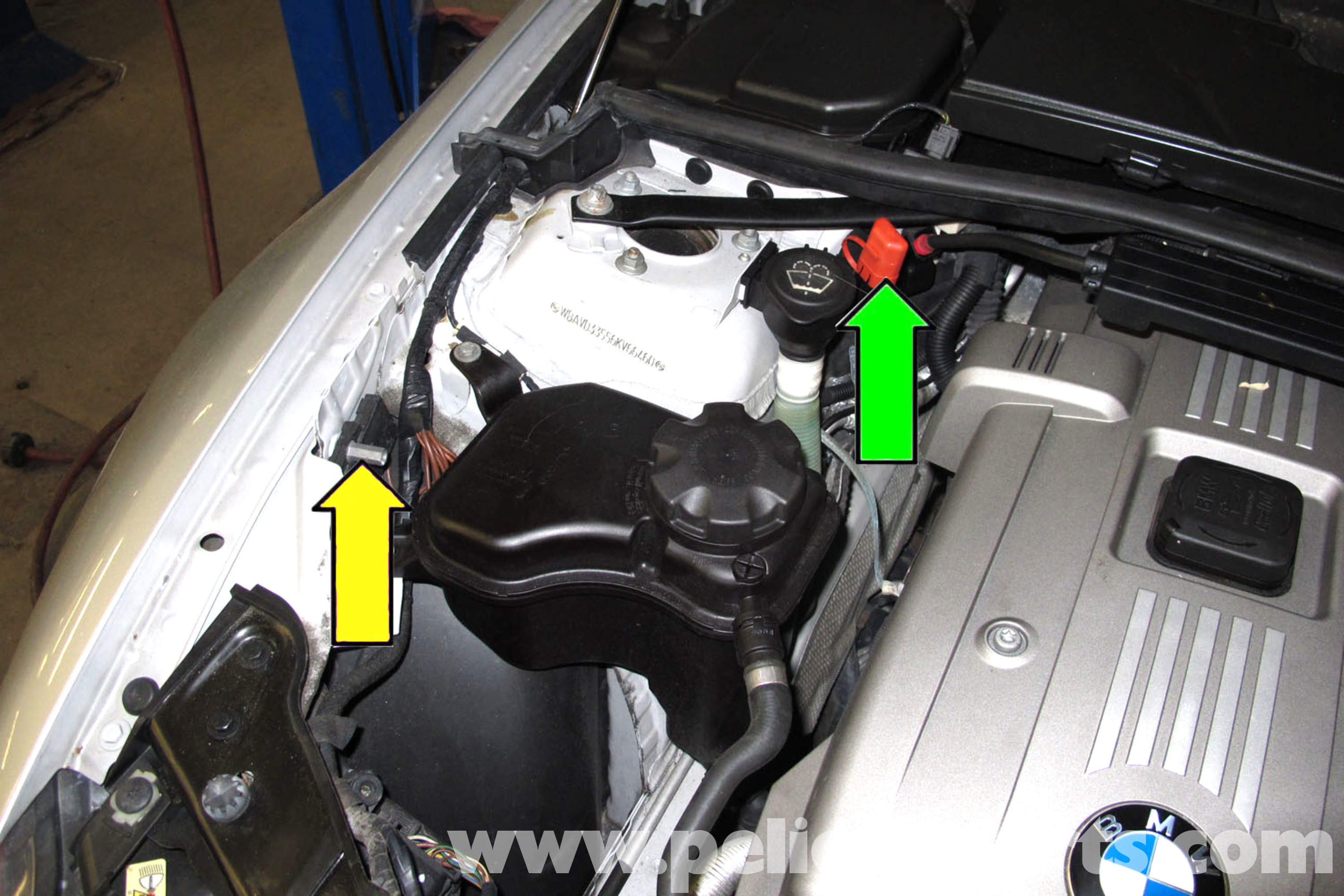 dodge ignition module wiring diagram diagrams house lights bmw e90 battery replacement | e91, e92, e93 pelican parts diy maintenance article