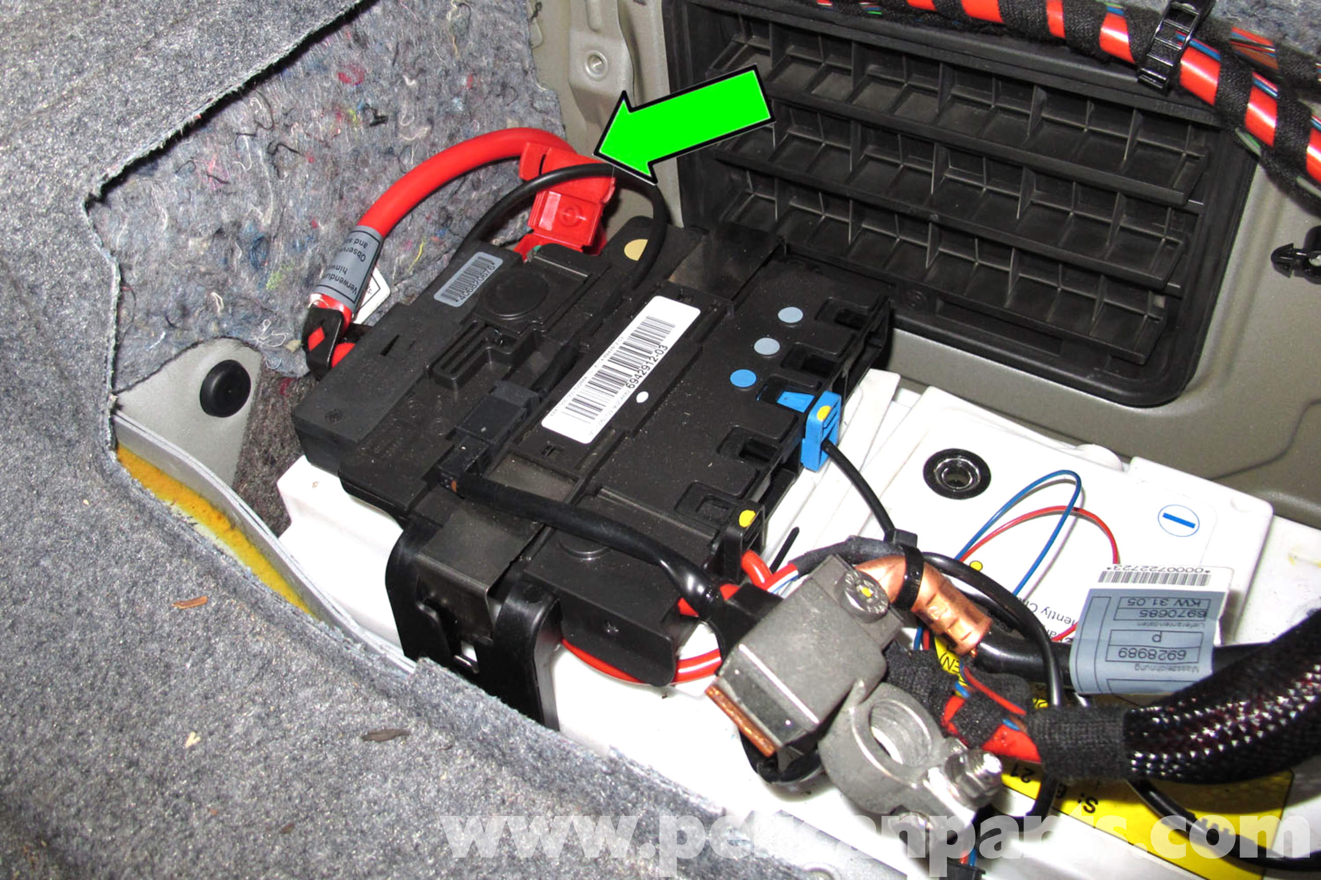 bmw e92 radio wiring diagram 2003 chevy s10 diagrams e90 battery replacement | e91, e92, e93 pelican parts diy maintenance article