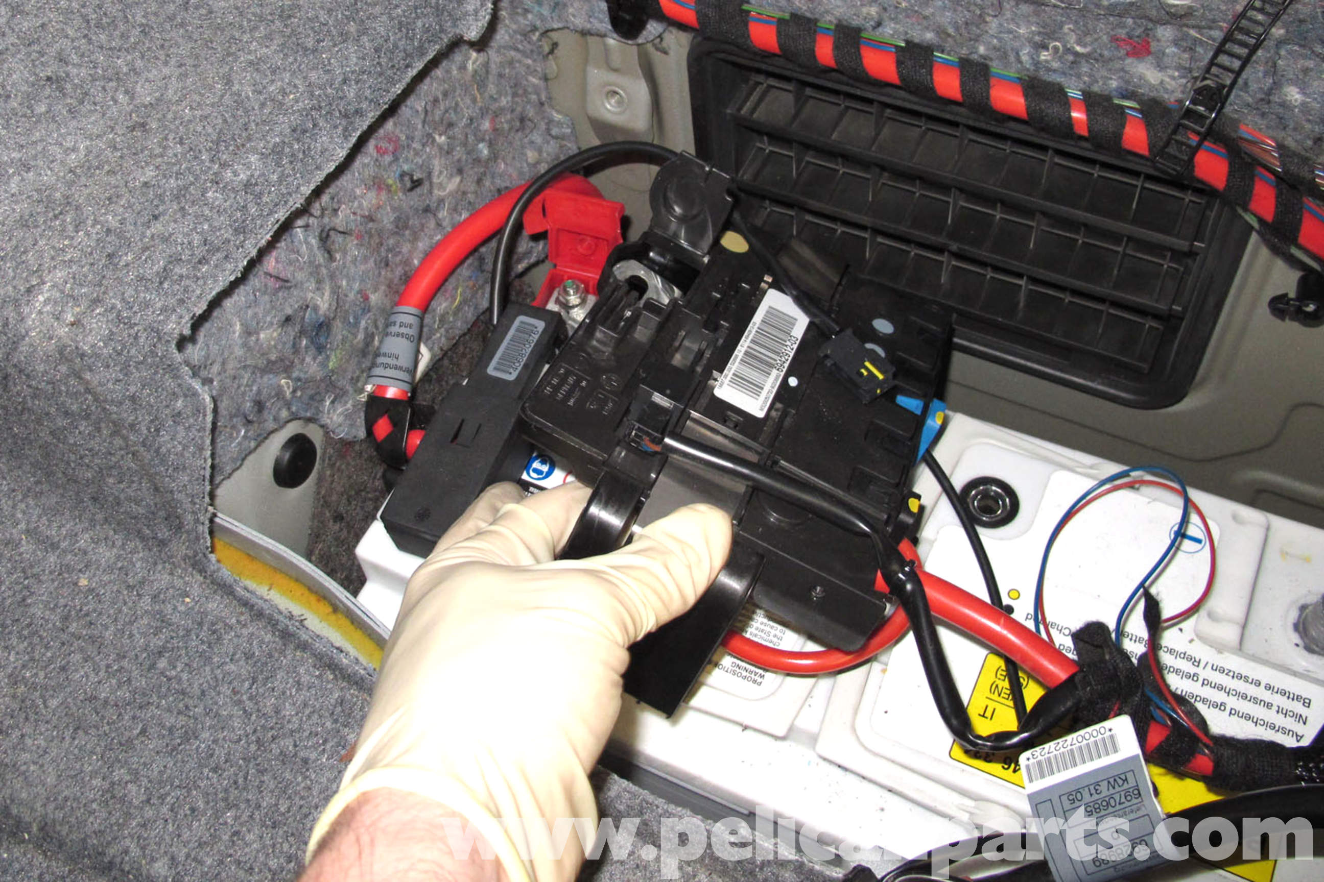 e36 wiring diagram ford radio bmw e90 battery replacement   e91, e92, e93 pelican parts diy maintenance article