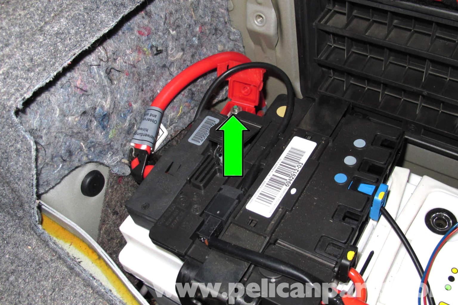 bmw z3 wiring diagram radio rv water tank e90 battery replacement | e91, e92, e93 pelican parts diy maintenance article