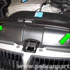 2004 Bmw X5 Headlight Wiring Diagram 4 Spotlights E90 Air Filter Replacement | E91, E92, E93 Pelican Parts Diy Maintenance Article