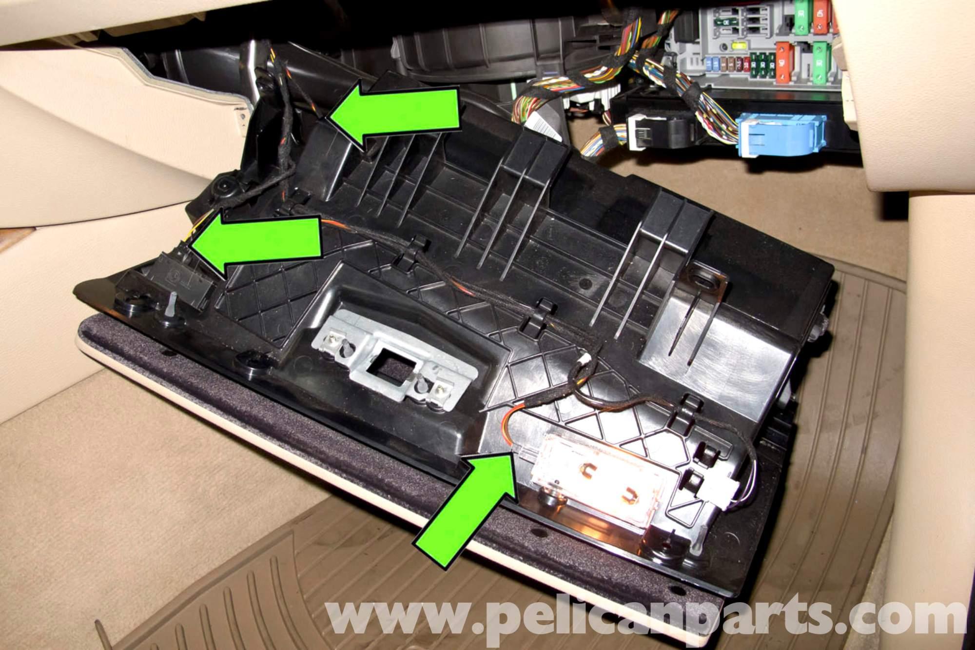 hight resolution of bmw e90 glove box replacement e91 e92 e93 pelican parts diy rh pelicanparts com e90 fuse box diagram e90 cigarette lighter fuse