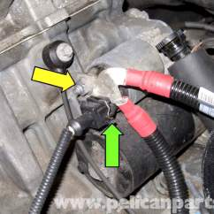 Alternator Wiring Diagram Bosch How To Wire 220 Volt Outlet Bmw E90 Starter Replacement | E91, E92, E93 Pelican Parts Diy Maintenance Article