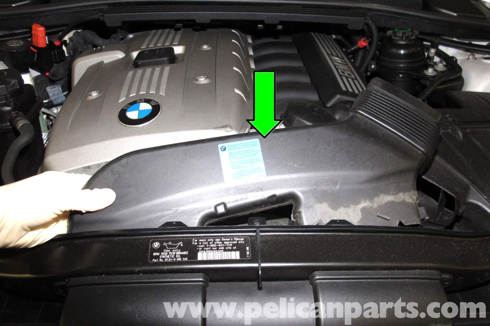 hight resolution of bmw e90 knock sensor replacement e91 e92 e93 pelican parts diy diagram besides bmw 750il moreover 1998 bmw 528i vacuum hose diagram