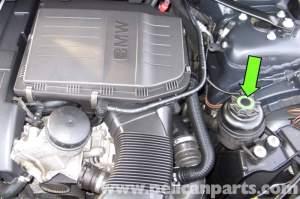 BMW E90 Power Steering Reservoir Replacement   E91, E92, E93   Pelican Parts DIY Maintenance Article