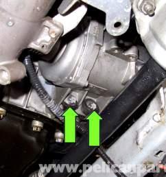bmw e90 coolant pump replacement e91 e92 e93 pelican parts diy 2007 bmw 328i serpentine belt diagram besides 2001 bmw 325i coolant [ 2592 x 1728 Pixel ]