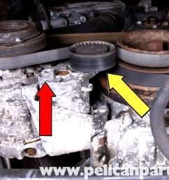 bmw e39 5 series drive belt replacement 1997 2003 525i 528i 530i bmw serpentine belt diagram bmw e39 cooling system diagram 2006 bmw [ 2592 x 1728 Pixel ]