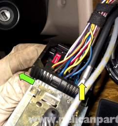 bmw z3 radio removal and replacement 1996 2002 pelican parts diy bmw z3 radio wiring harness [ 2592 x 1767 Pixel ]