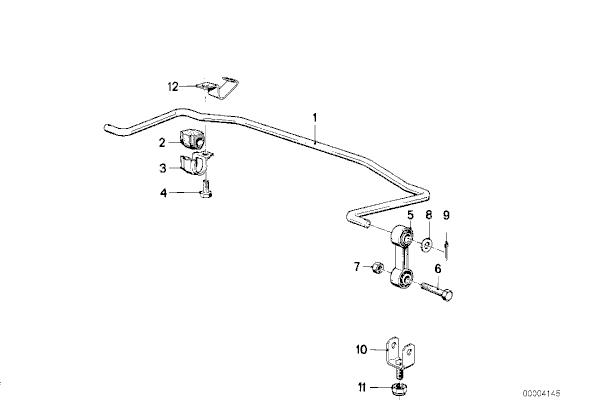 BMW E30 3-Series Rear Sway Bar Link Replacement (1983-1991
