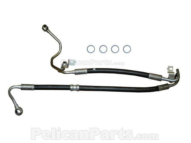 BMW Power Steering Hose Power Steering Pump to Steering