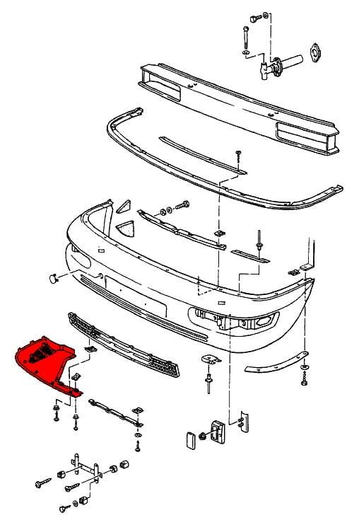 Mercedes Benz Front Bumper Part Diagrams, Mercedes, Free