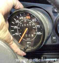 porsche 911 speedometer removal 911 1965 89 930 turbo 1975 89 rh pelicanparts com [ 2592 x 1944 Pixel ]