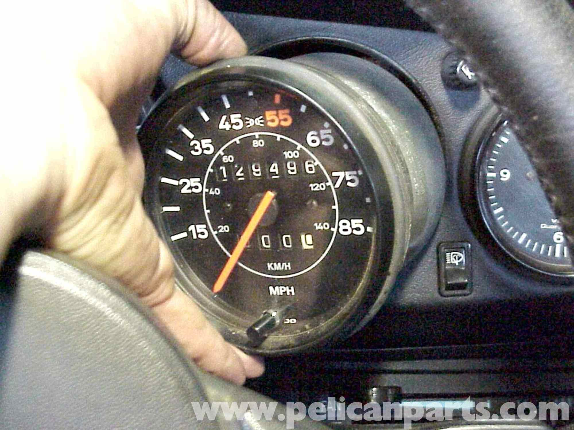 hight resolution of porsche 911 speedometer removal 911 1965 89 930 turbo 1975 89 rh pelicanparts com 1975 911 tach wiring diagram