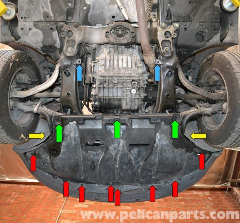 labeled diagram of a motor car vw citi golf radio wiring audi a4 b6 oil level sensor replacement (2002-2008)   pelican parts diy maintenance article
