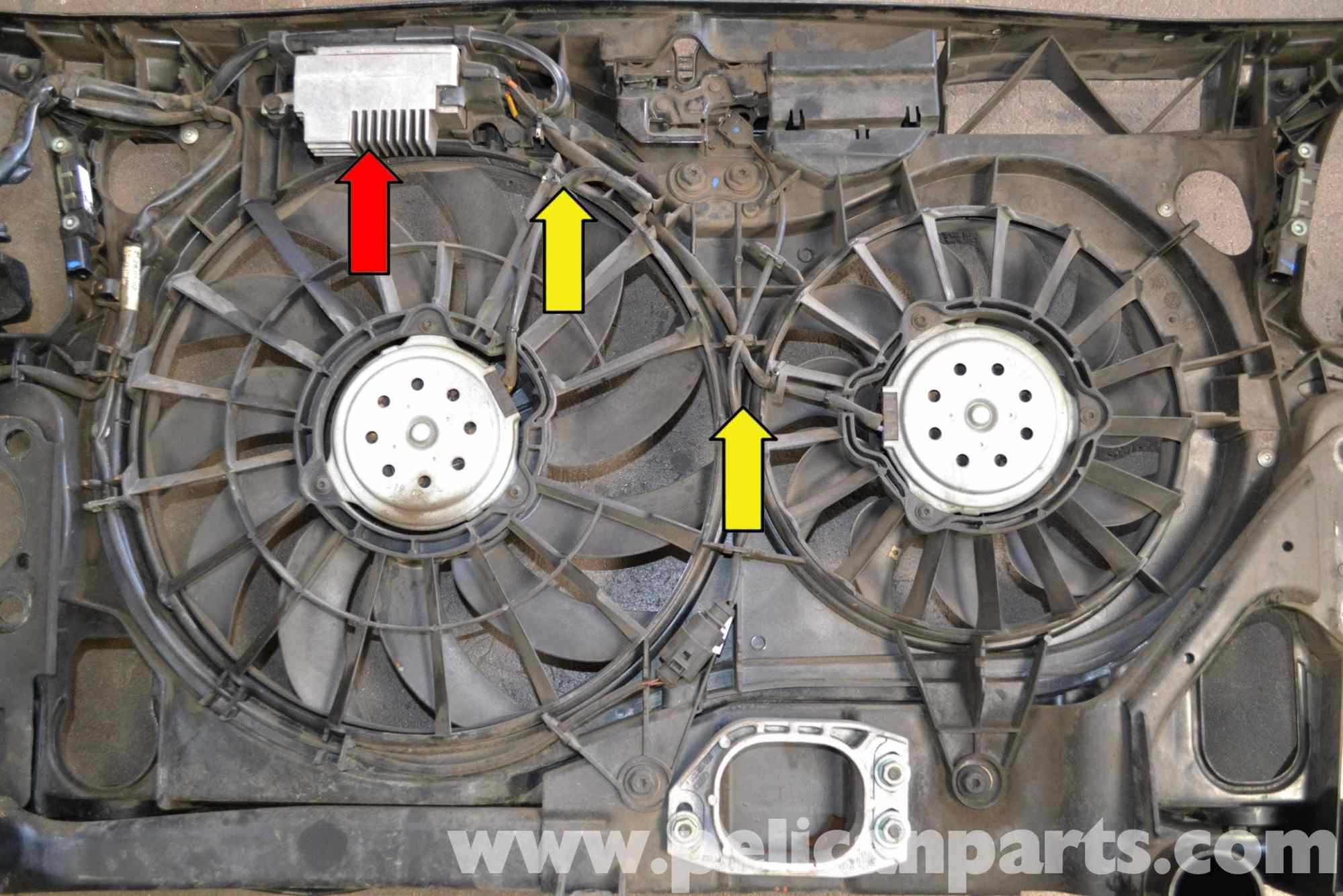 hight resolution of audi a4 b6 fan and shroud replacement 2002 2008 pelican parts 2006 audi a4 cooling fan wiring diagram
