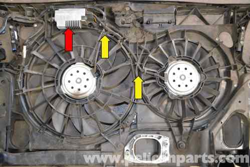 small resolution of audi a4 b6 fan and shroud replacement 2002 2008 pelican parts 2006 audi a4 cooling fan wiring diagram