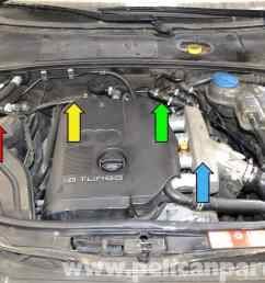 audi a4 b6 fixing common vacuum leaks 2002 2008 pelican parts audi a4 vacuum hose diagram on heated oxygen sensor 1 8t location [ 2591 x 1728 Pixel ]