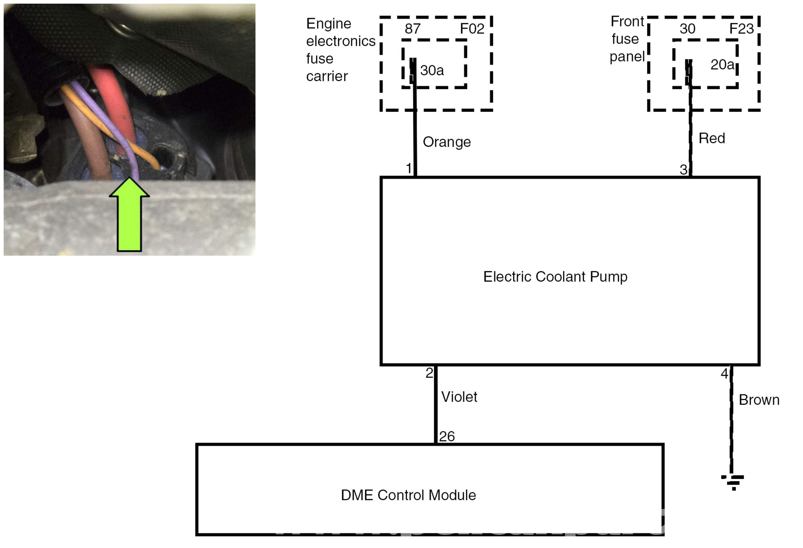 water pump wiring diagram 2000 mitsubishi eclipse gt stereo bmw e60 5 series testing pelican parts