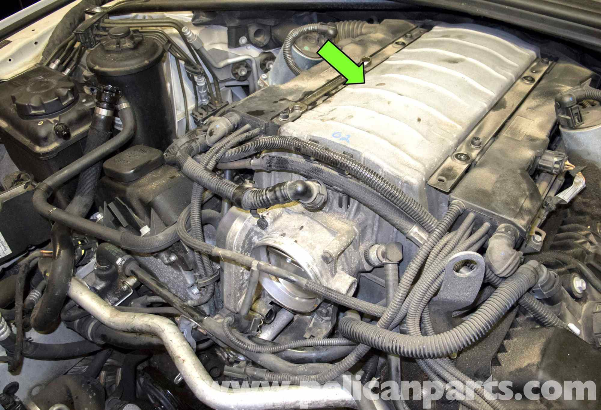 hight resolution of bmw e60 5 series n62 8 cylinder coolant pipe replacement