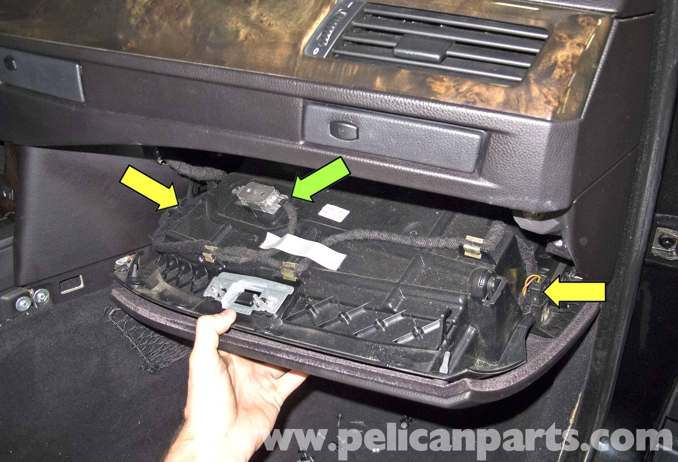 automotive electrical wiring diagram 1966 ford mustang horn bmw e60 5-series glove box replacement (2003-2008) - pelican parts technical article